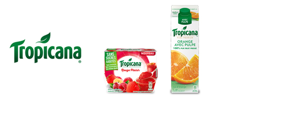 Jus et desserts de fruits Tropicana