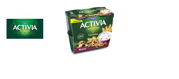 La gamme Activia Céréales