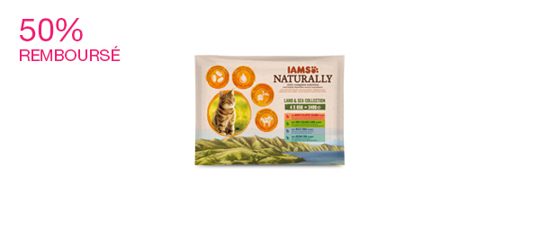 IAMS Naturally Pâtée Chat Adulte