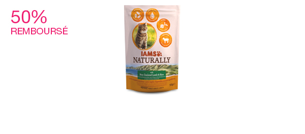 IAMS Naturally Croquettes Chat Adulte