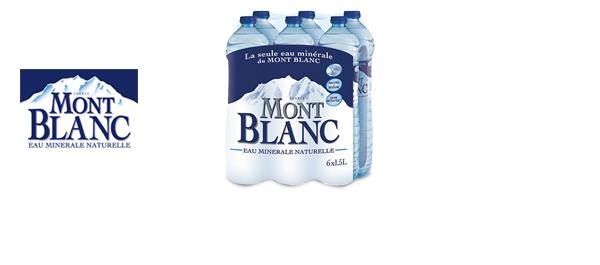 L'eau minérale Mont Blanc