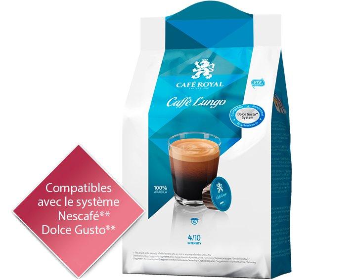 Capsules Café Royal Caffè Lungo *Cette marque est la propriété de tiers qui n'ont aucune relation avec Delica AG.