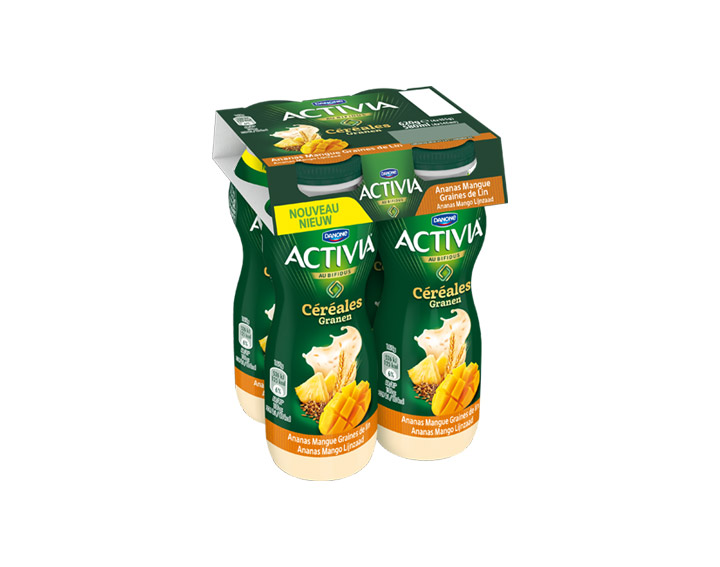 À boire Mangue Ananas Graines de Lin 4x155g