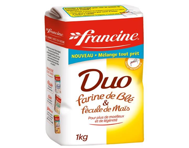 Duo de farine de blé et de fécule de maïs 1kg