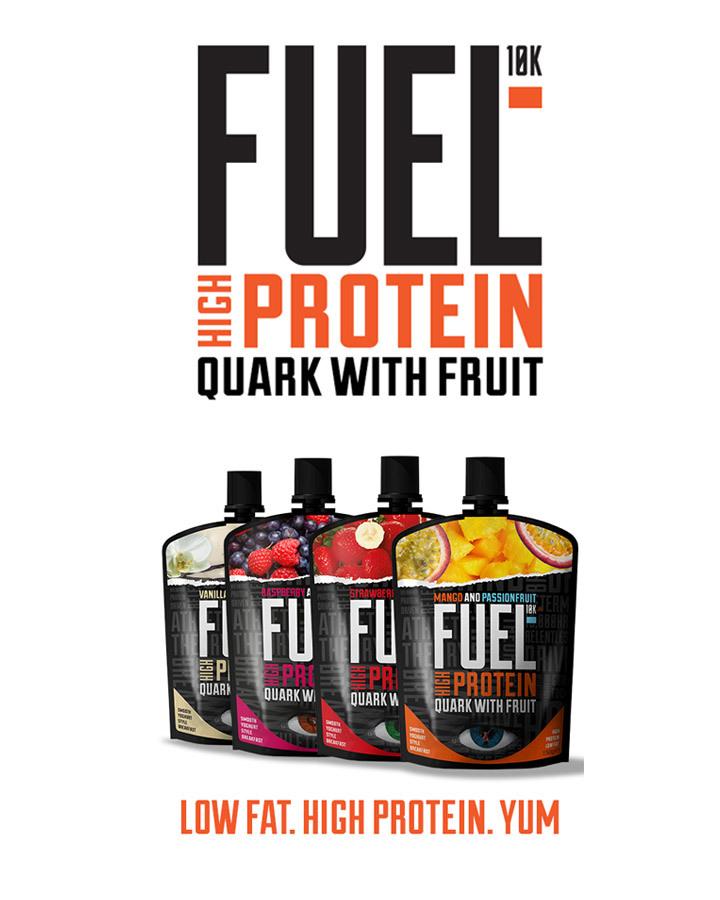 FUEL10K Quark with Fruit pouches