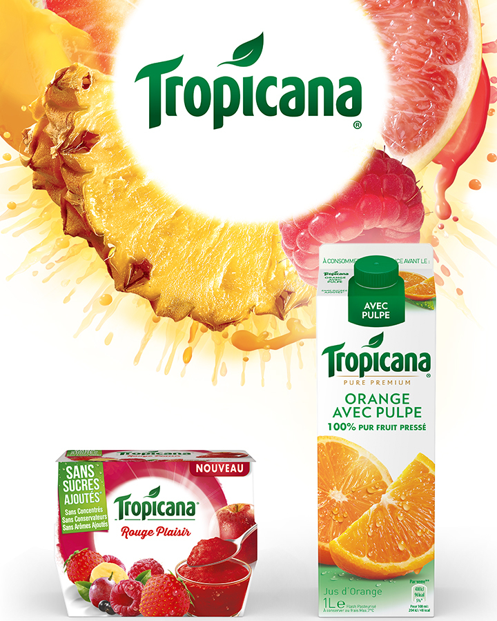 Jus et desserts de fruits Tropicana